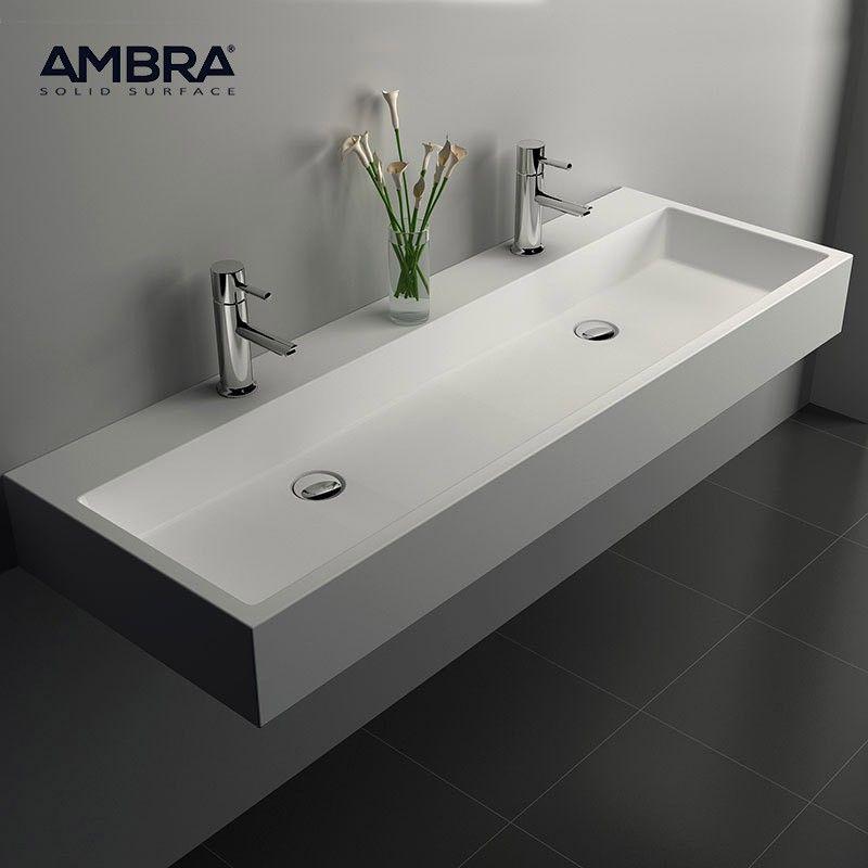 Vasque à poser ou à suspendre, 120 cm en Solid surface - Samoa - Meuble Vasque A Poser Salle De Bain