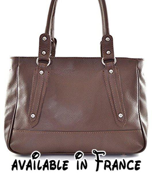 OH MY BAG Sac à main femme en véritable cuir camel FNKKGkCD