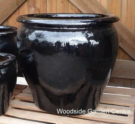 Large Glazed Black Tree Planter X 2 | Woodside Garden Centre | Pots To  Inspire