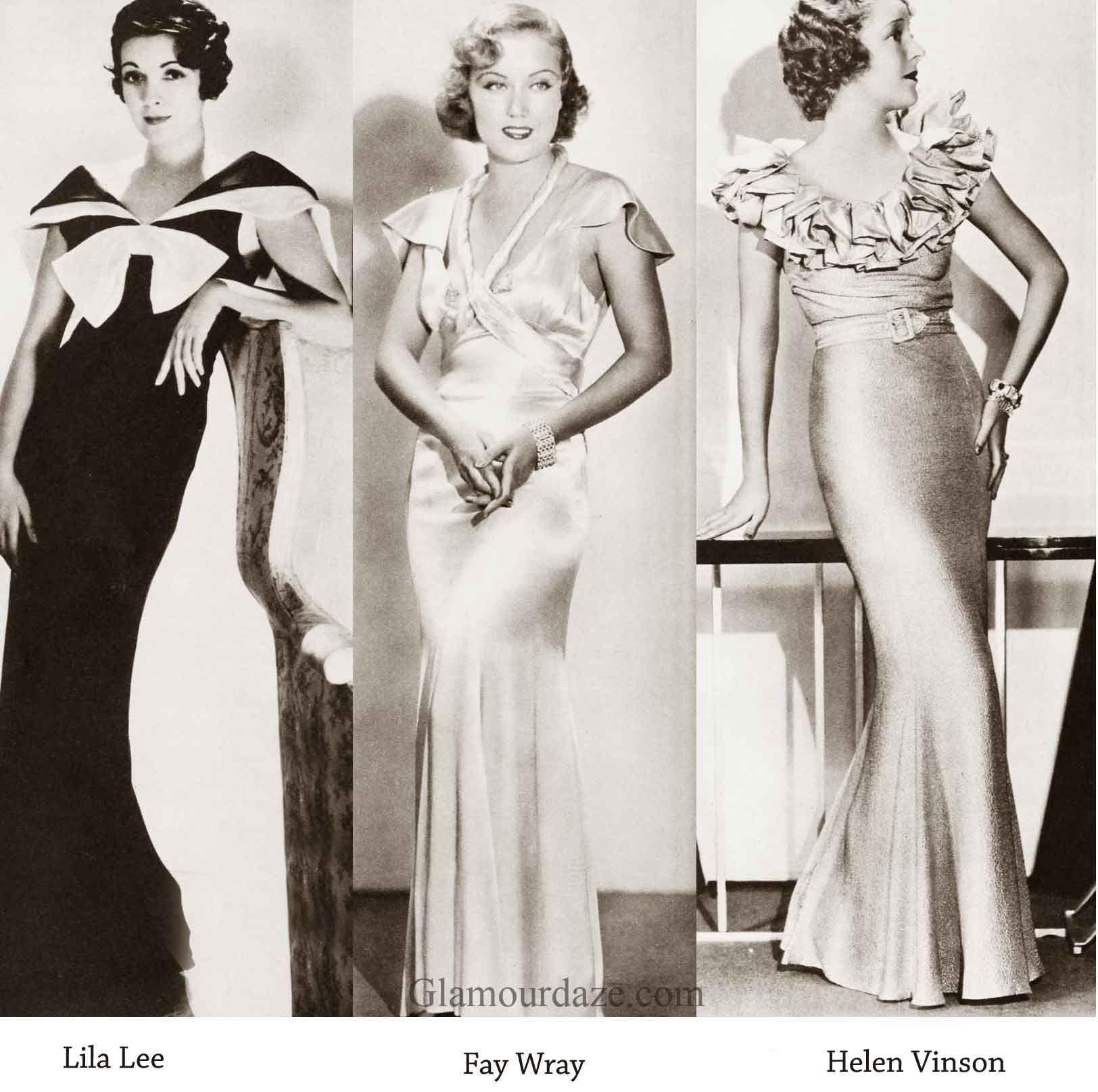 1930s-Fashion---Hollywood--Evening-dress---1934 | Vintage Glamour ...