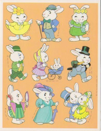 Hallmark Easter Dated 1984 Vintage Stickers