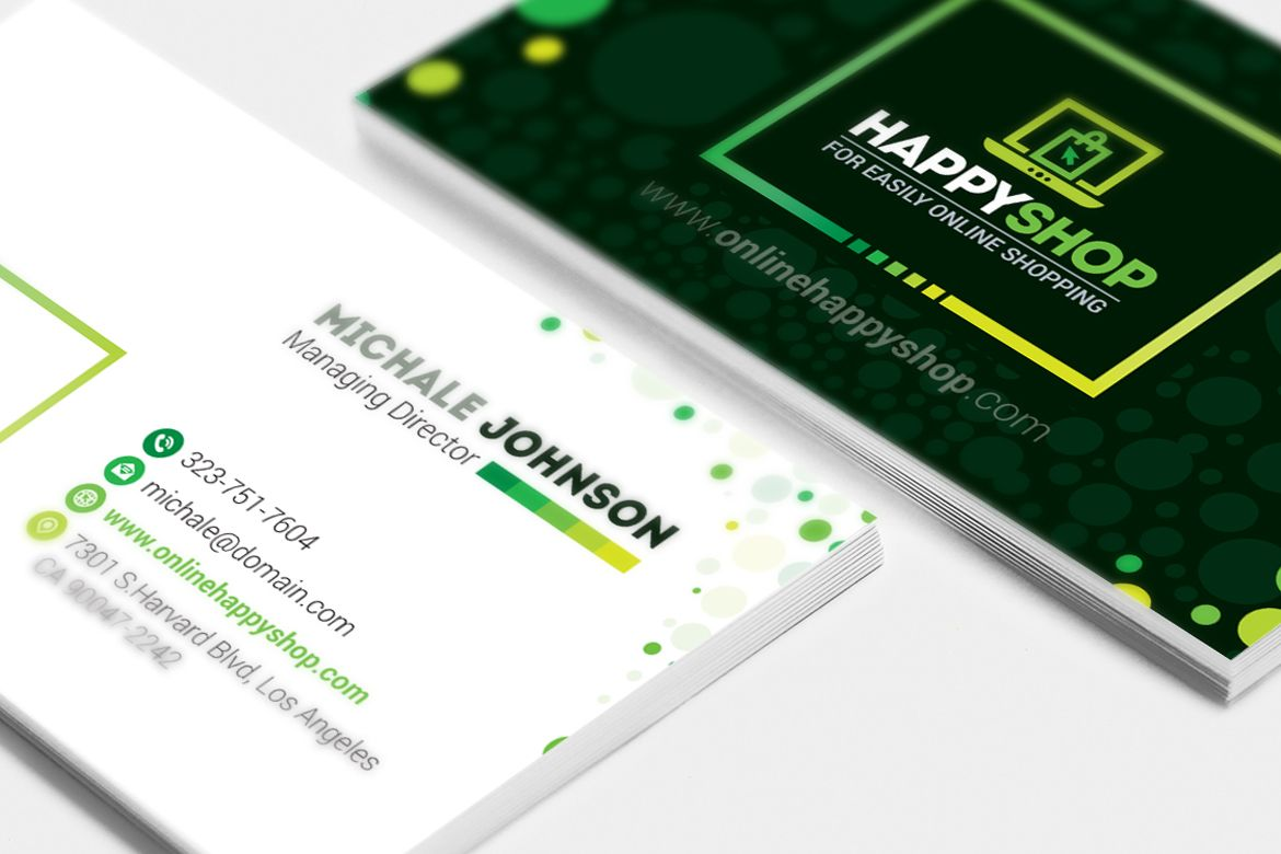Business Card For E Commerce Or Online Shop Shopping Mall Business Card Printing Business Cards Custom Business Cards Business Cards Corporate Identity