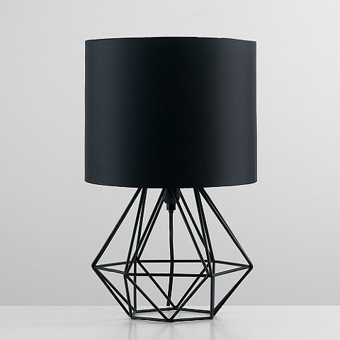 Tesco direct angus geometric satin black base table lamp black