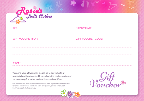 Gift Voucher - The perfect present for picky dolls!   Boy ...