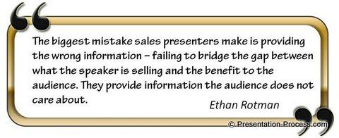 Quote On Sales Presentation  Powerpoint Design