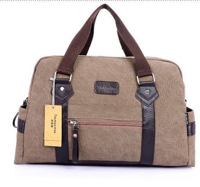 New Fashion men women handbag casual canvas travel duffle bags men ...