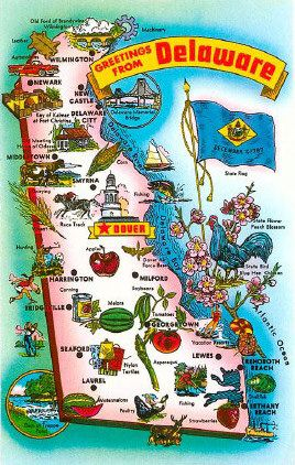Delaware State History Information Links Symbols Capital Constitution Flags Maps Song Delaware Beaches Delaware Map Map Of Delaware