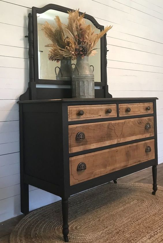 I purchased this antique dresser from a friend who lives down the street from me.Isn't she a beauty?The mirror was in excellent shape, no scratches or anything, which is very rare.    The dresser had some severe veneer damage.On the drawer fronts as well as the top.It appeared it may have been in a fire and suffered a little smoke damage. But nothing that could not be fixed of course.The bottom had veneer damage, but I decided not to repair it…