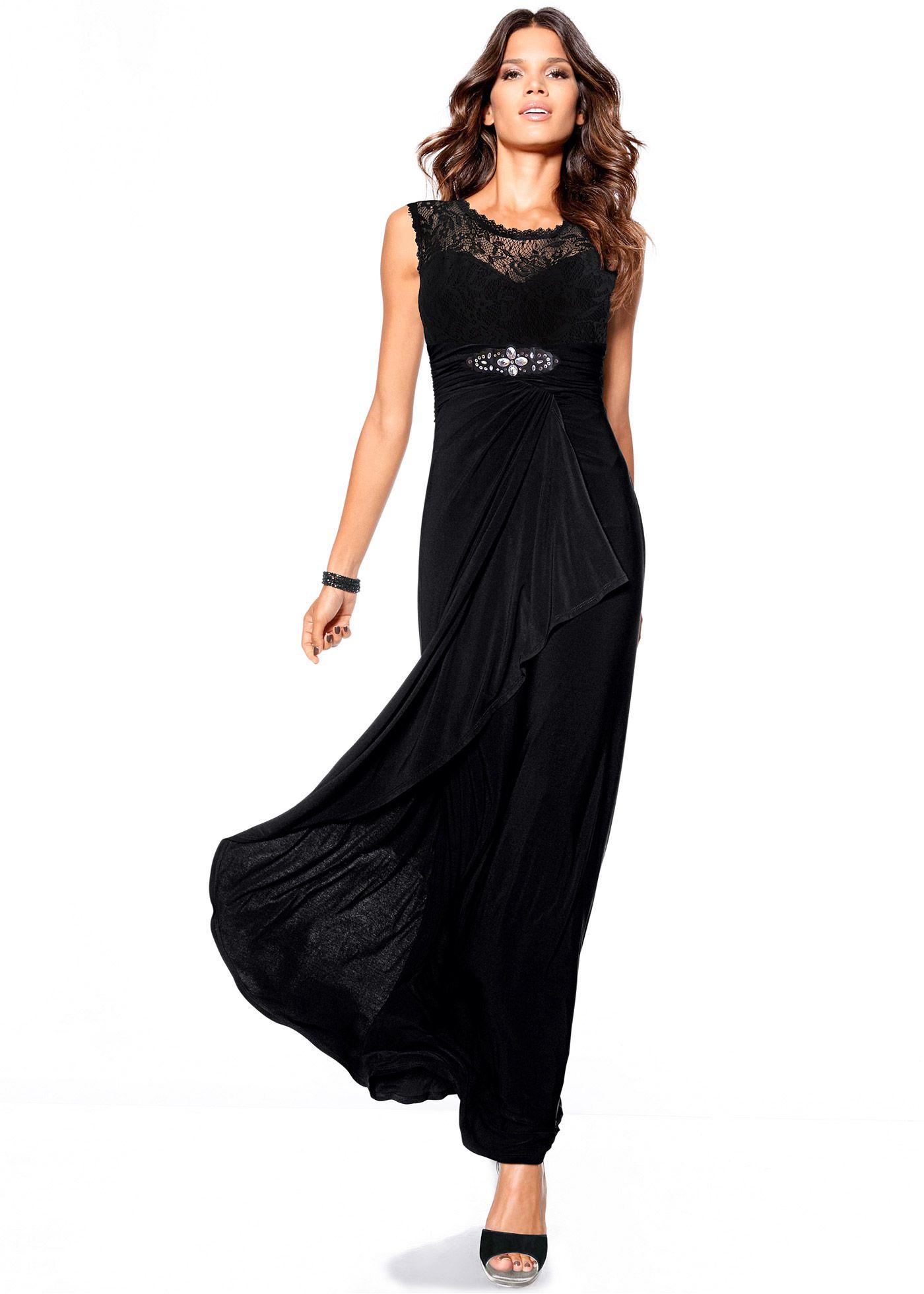 d5ada7615f Vestido longo com renda preto encomendar agora na loja on-line bonprix.de  R  199