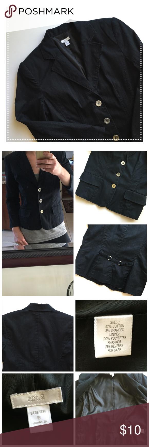 BOGO SALE Lined Cotton Blazer Fully lined cotton 97% spandex 3 ...