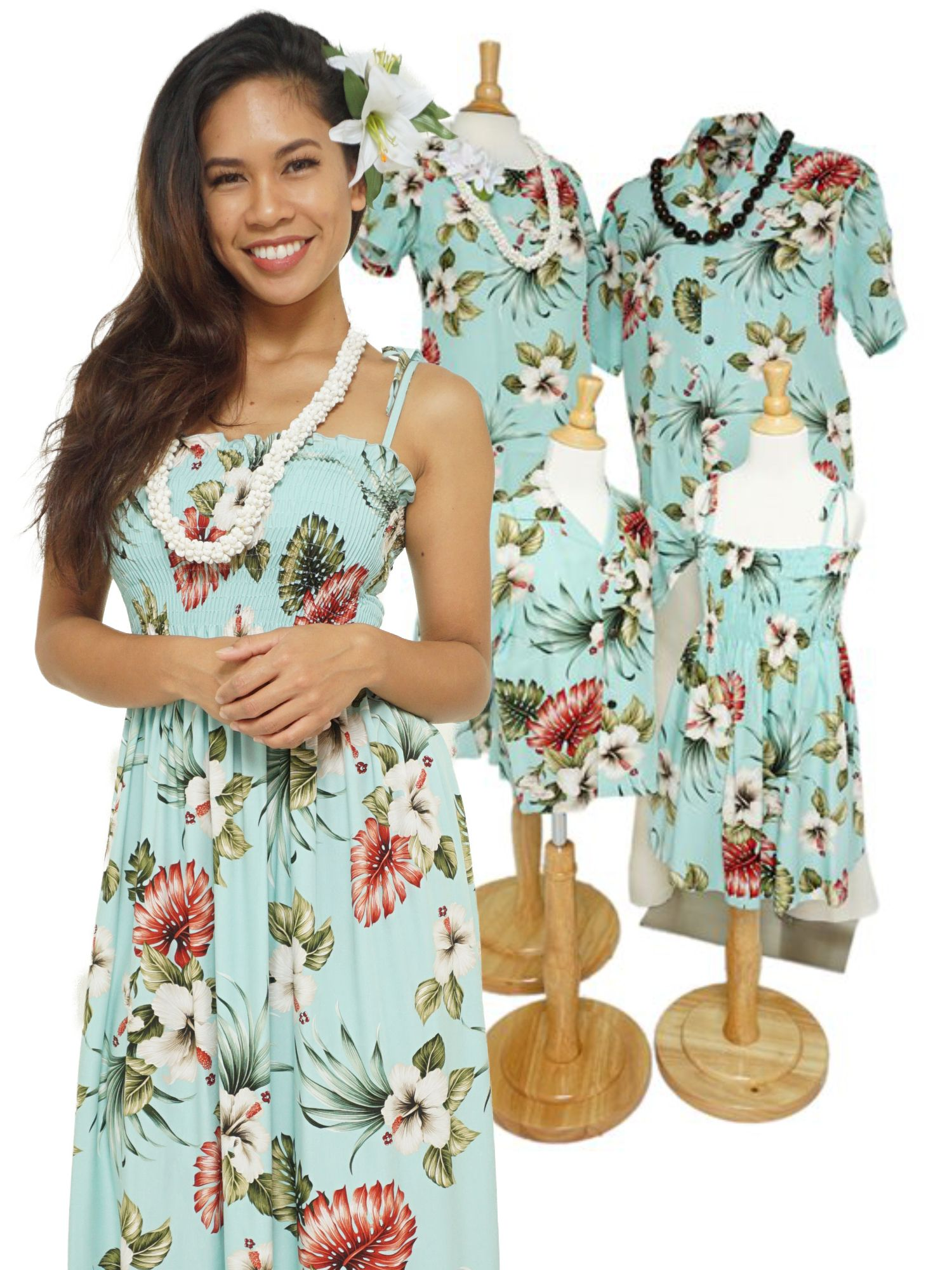 740b967cb17 Hawaiian Family Matching Outfit. Feat. the Hibiscus and Monstera leaf.  Perfect for your next family vacation.