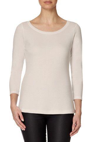 HANRO Womens Essentials 3//4 Sleeve Shirt