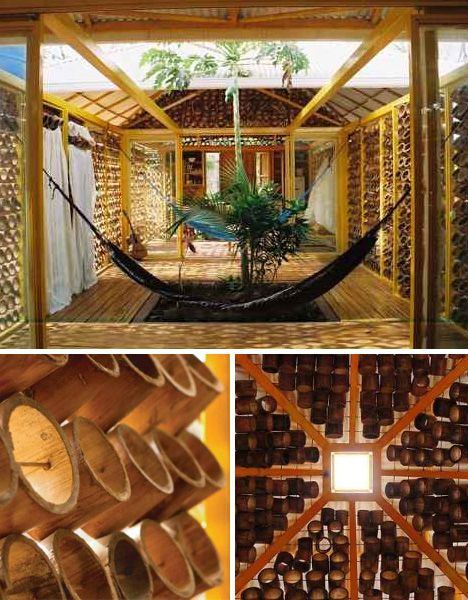 Tropical Bamboo House.. I want this!