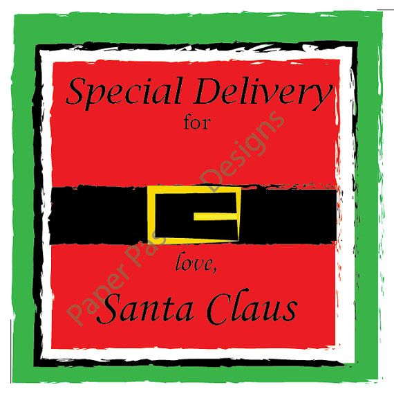 Personalized santa gift tag printable santa clause gift tag personalized santa gift tag printable santa clause gift tag editable christmas gift tag negle Image collections