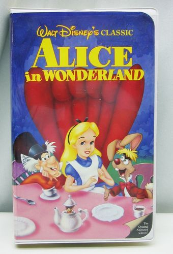 alice in wonderland vhs disney classic movie video