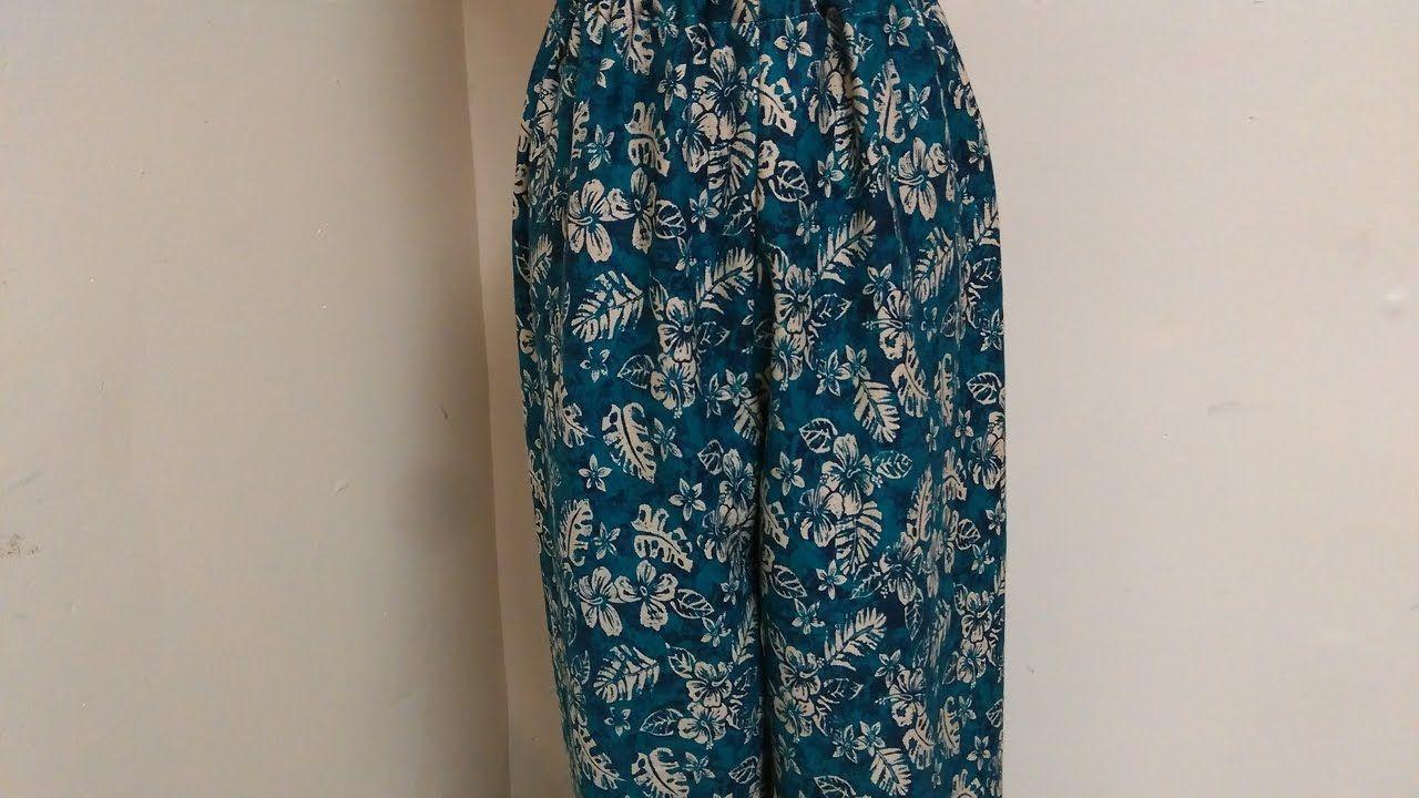 تفصيل و خياطة بنطلون بيجامة حريمي و للبنات سروال Fashion Couture Pants