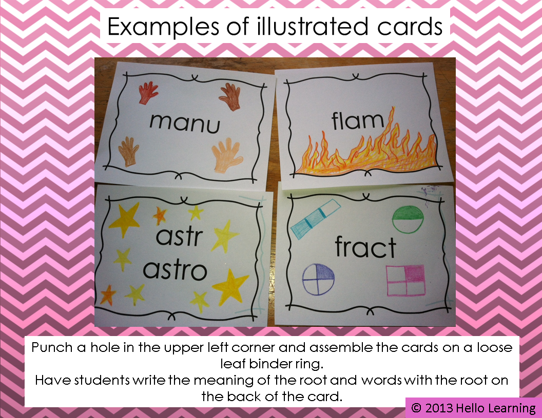 Greek And Latin Word Root Cards For Spelling And