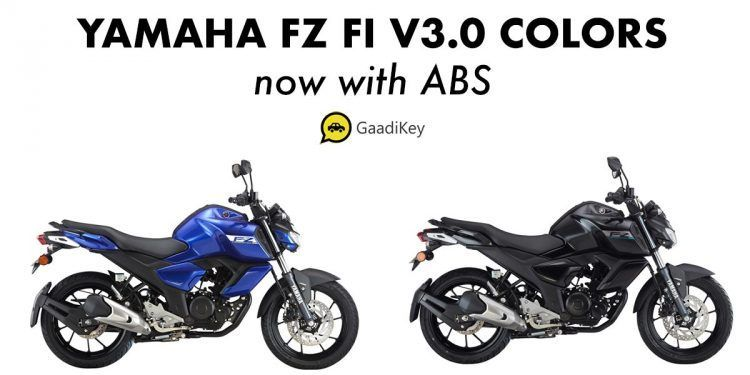 2019 Yamaha Fz V3 0 Colors Metric Black Racing Blue Fi Abs