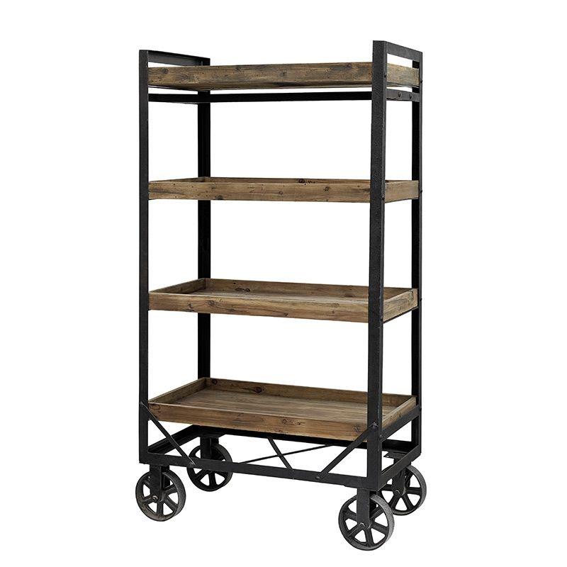 regal trolley honk eisen und holz gro von nordal furniture pinterest regal und holz. Black Bedroom Furniture Sets. Home Design Ideas