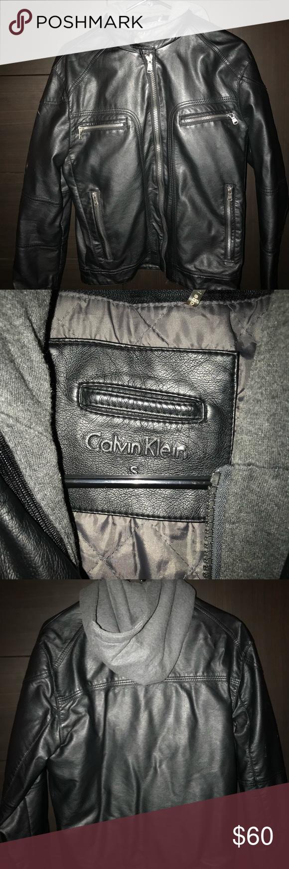 Calvin Klein Leather Jacket Great condition, lightly worn