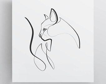 Https Www Etsy Com De Listing 499935380 Schwarz Weiss Katze