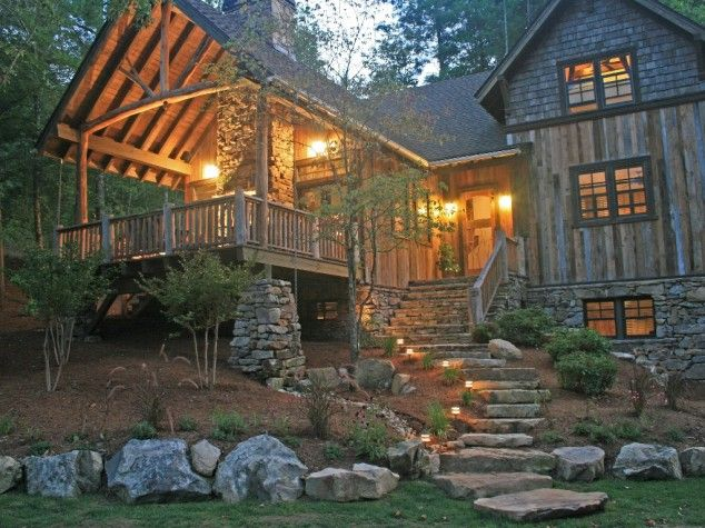 Just Needs A Waterfall Or Beautiful River Within View And Its Perfect With Images Mountain Cottage Luxury Cottage Cabins And Cottages