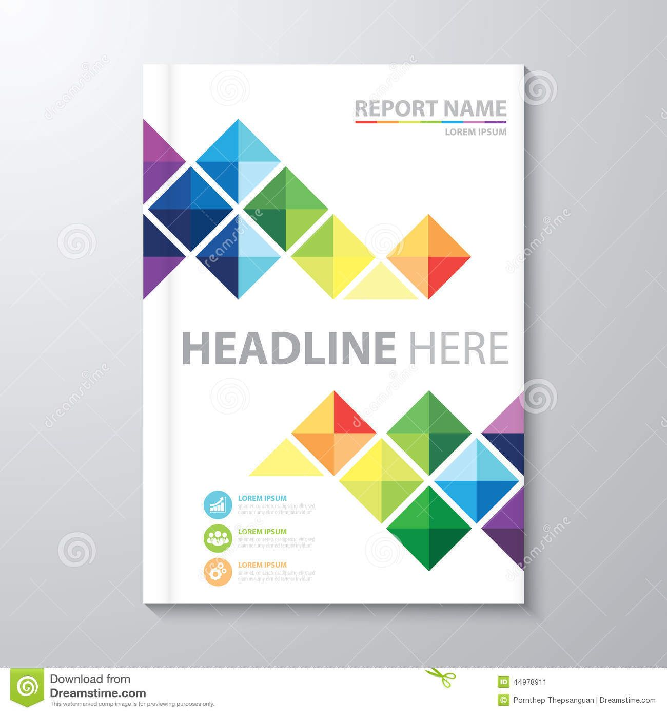 Attractive Annual Report Cover Design Template Idea Cover Template