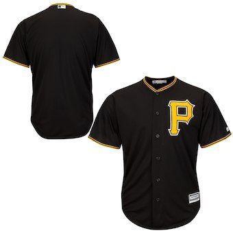 b9614ab1183 Pittsburgh Pirates Majestic Youth Official Cool Base Jersey - Black ...