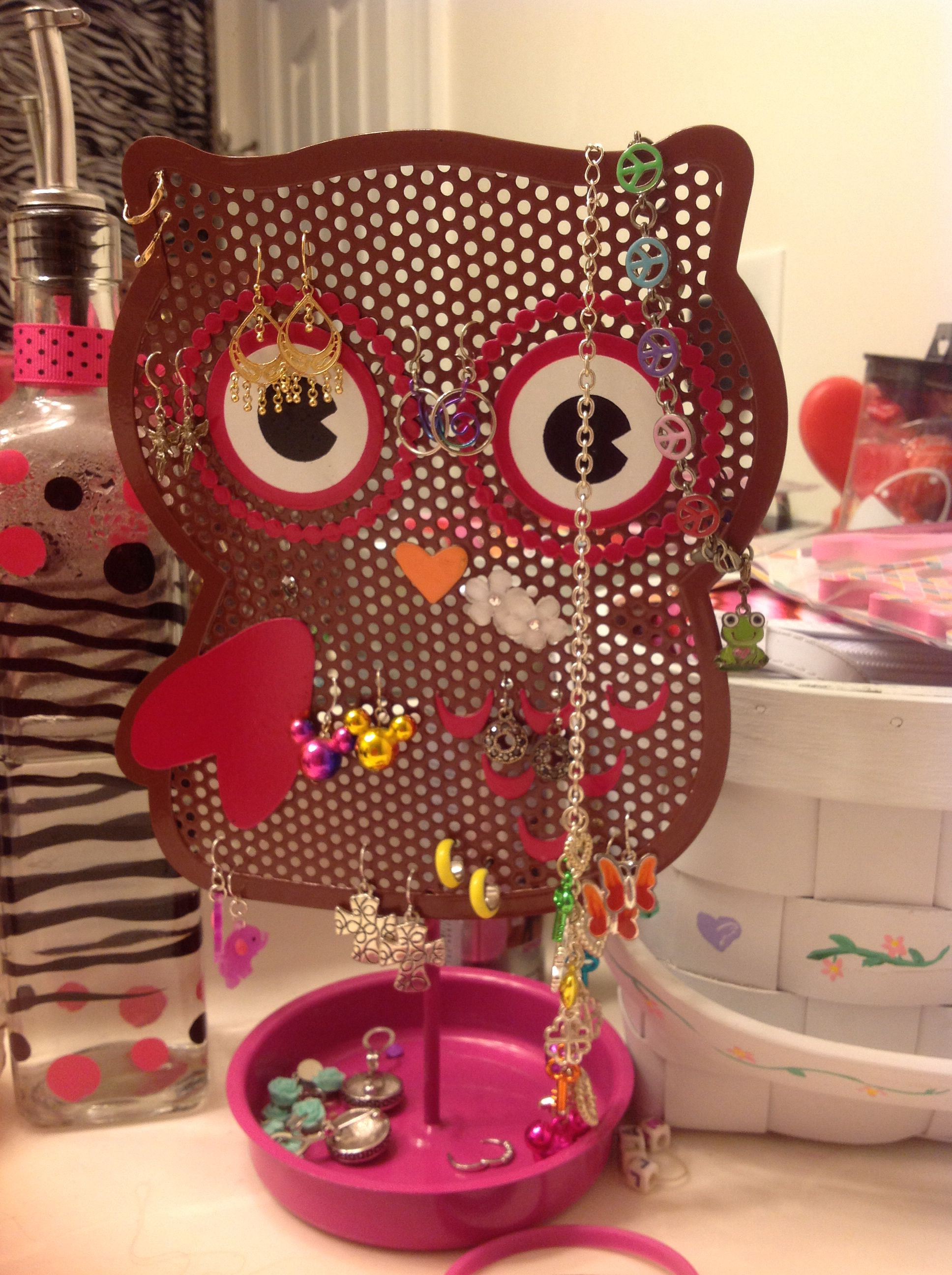 Cute owl earring holder