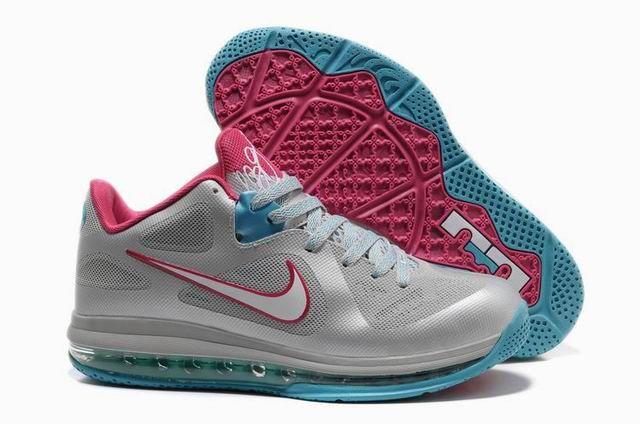 lebron 9 pink grey blue Cheap Nike ...