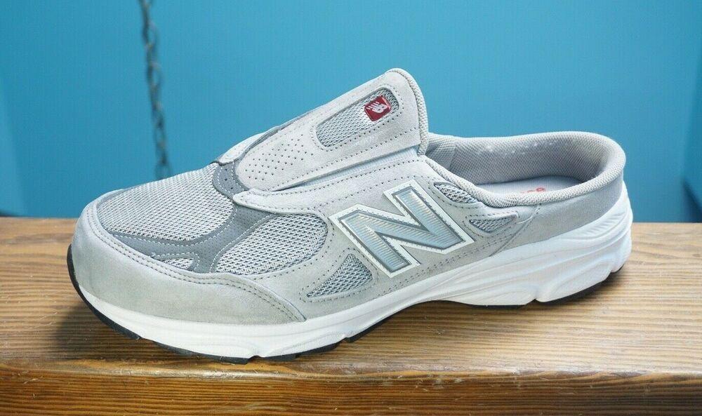 Shoes Slides Grey Suede 11.5 4E Wide