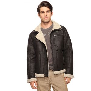 forever 21 mens faux shearling jacket leather - Google Search ...