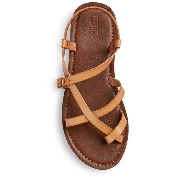 Women's Lavinia Slide Sandals (£14) ❤ liked on Polyvore featuring shoes, sandals, faux leather sandals, slide sandals, summer shoes, vegan leather shoes and vegan sandals