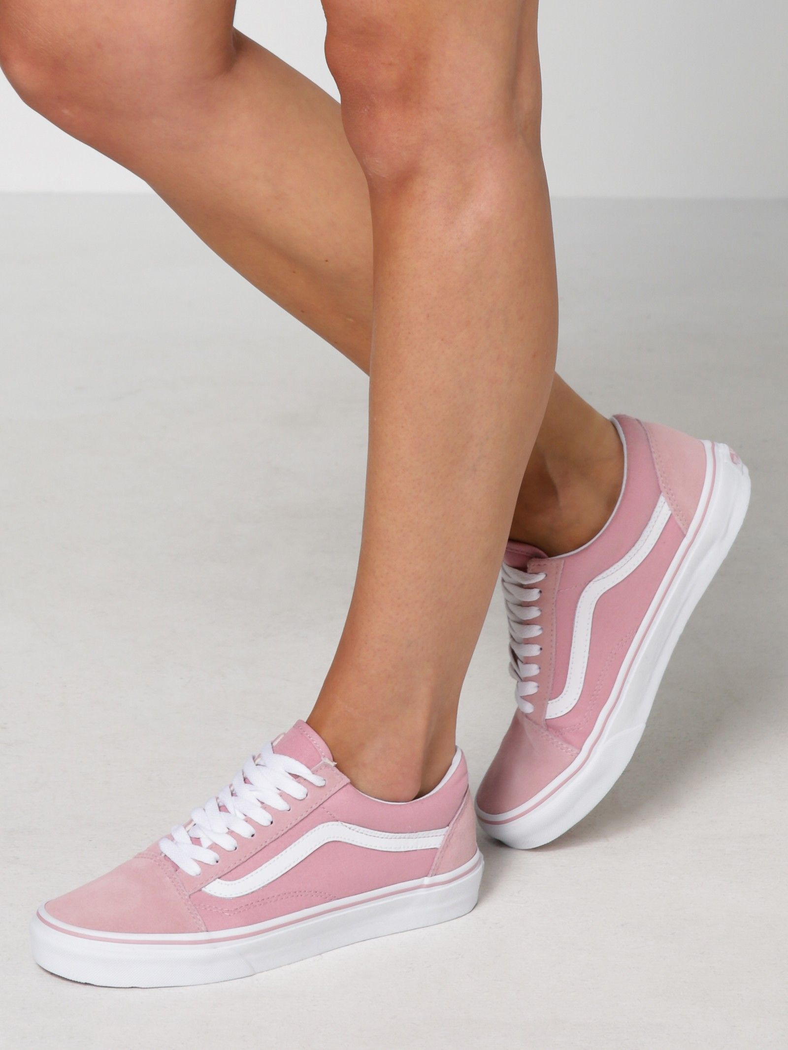 vans damen old skool sneakers rosa