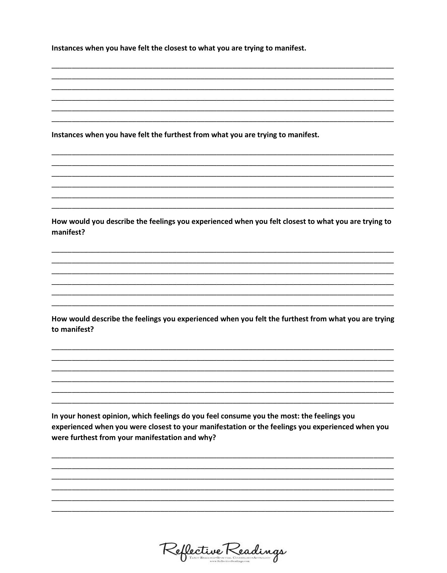worksheet Think And Grow Rich Worksheet law of attractionmanifestation worksheet get closer to your desired reality find out