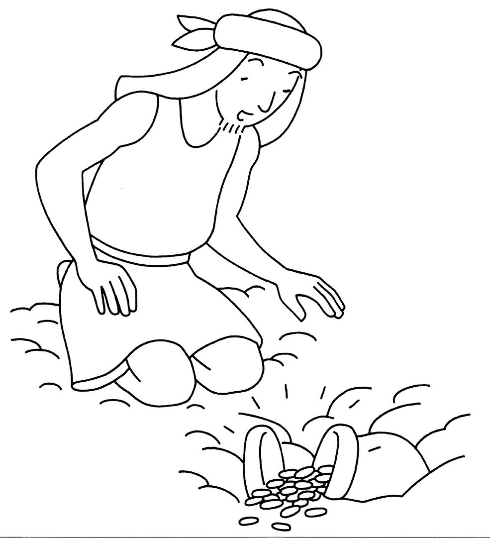 47+ Parable of the hidden treasure coloring page download HD