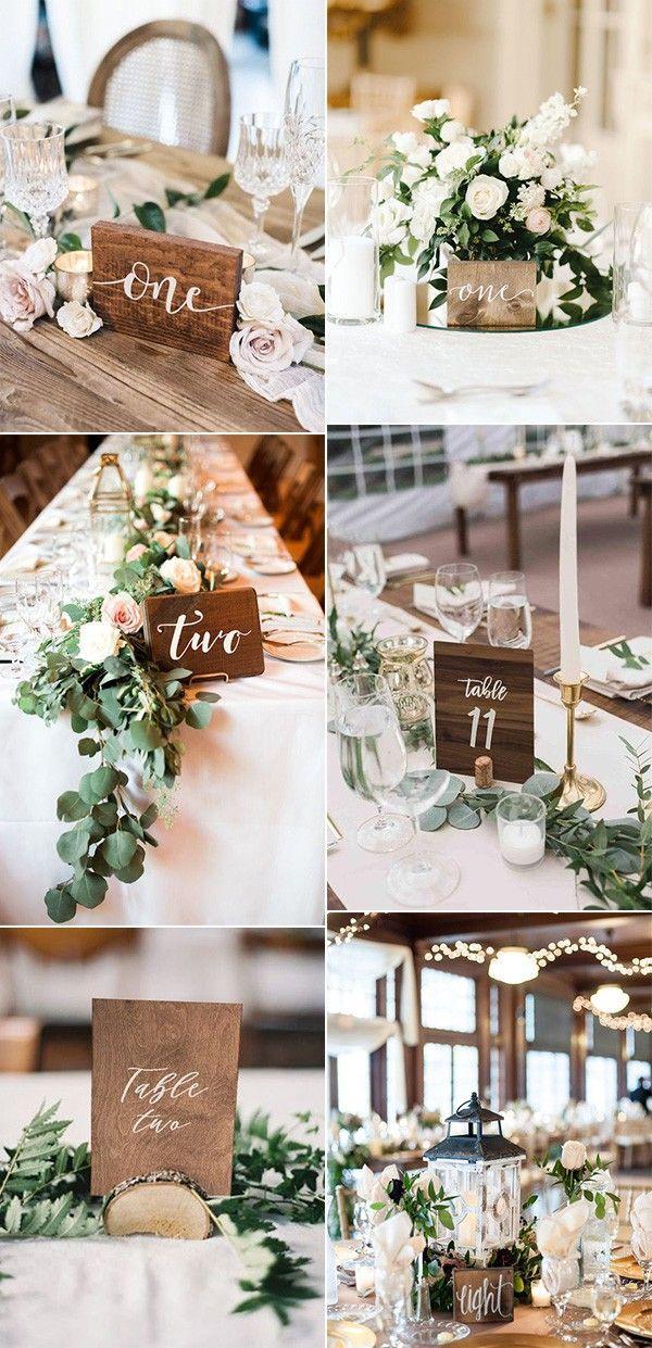 27 Inspiring Wedding Table Number Ideas For 2019 Wood Wedding Decorations Wedding Numbers Wood Table Numbers Wedding