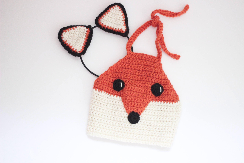 Fox Crop top/ Fox ears/ Fox outfit/ Fox shirt/ Fox headband/ Girls ...