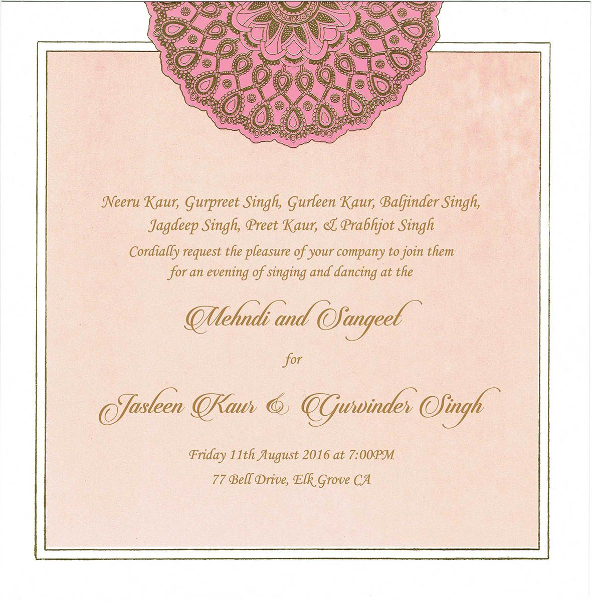 Wedding Invitation Wording For Mehndi Ceremony Indian Wedding Invitation Card Design Wedding Card Design Indian Wedding Invitation Cards