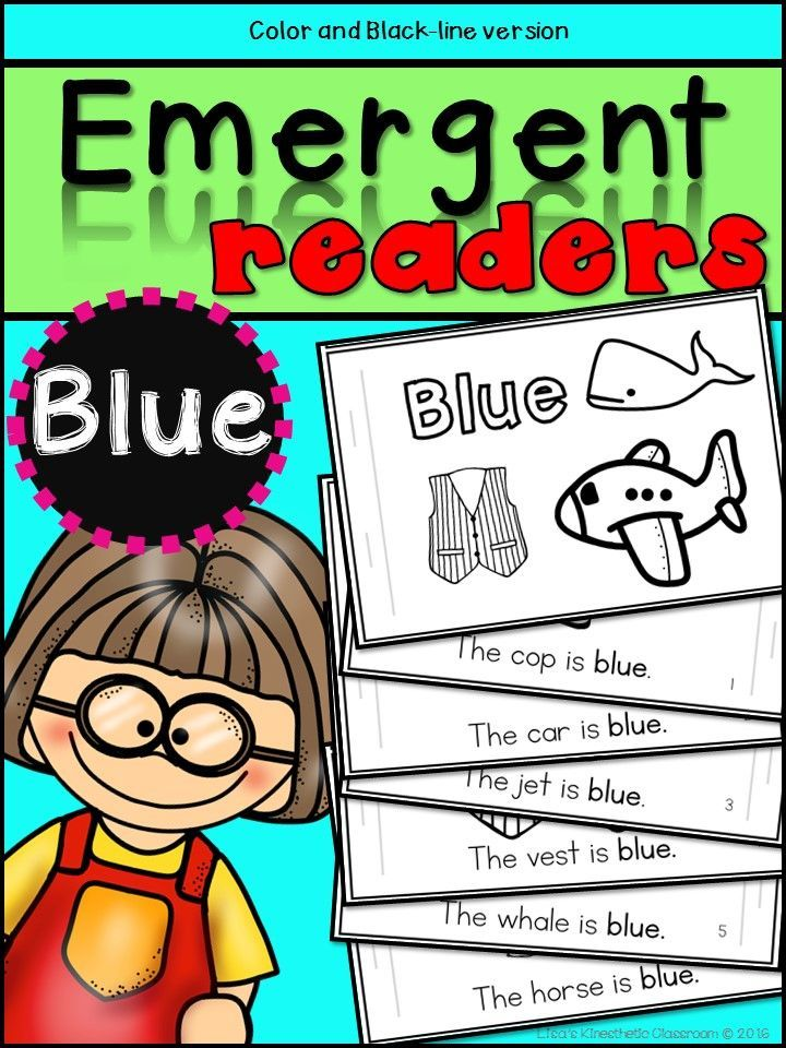 Emergent Readers Color Words Blue Emergent Readers Holiday