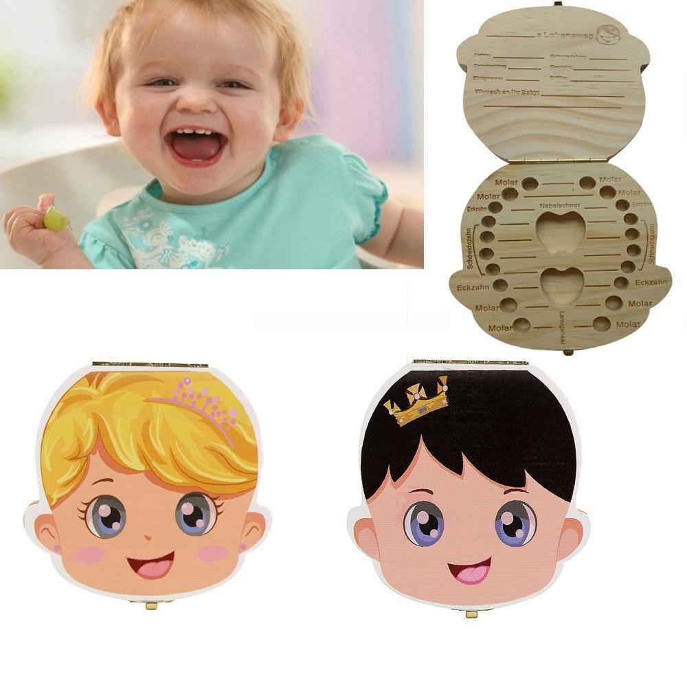 Wooden Infant Baby Milk Teeth Holder Tooth Box Saver Organizer Storage Case More