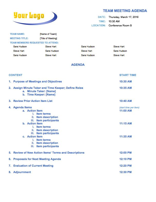 Free Meeting Agenda Templates - Smartsheet Data Driven - meeting agenda template word