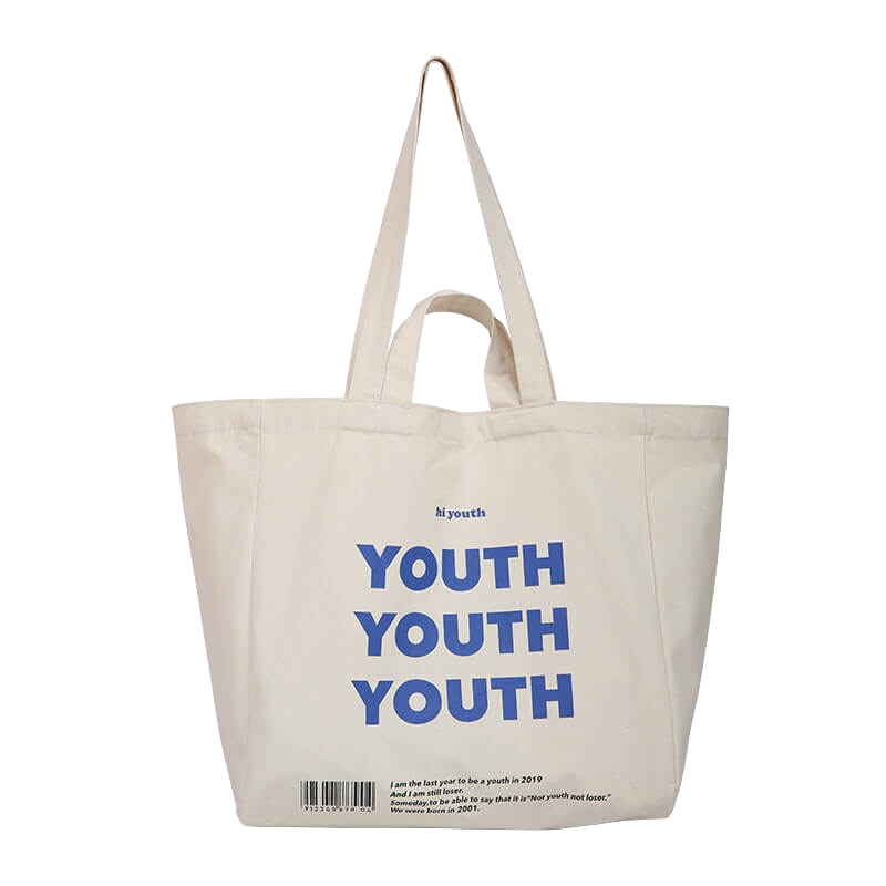 Youth Tote Bag In 2021 Canvas Shopping Bag Tote Bag Tote