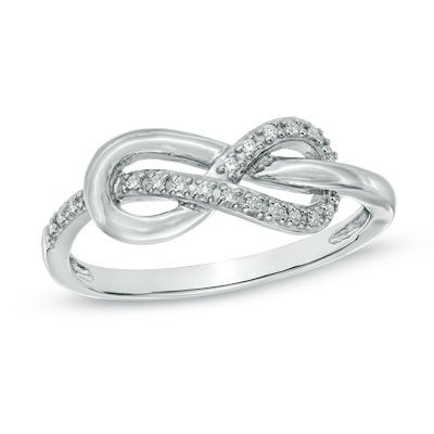 Zales Wired Knot Ring in Sterling Silver RDTFy4Pxo