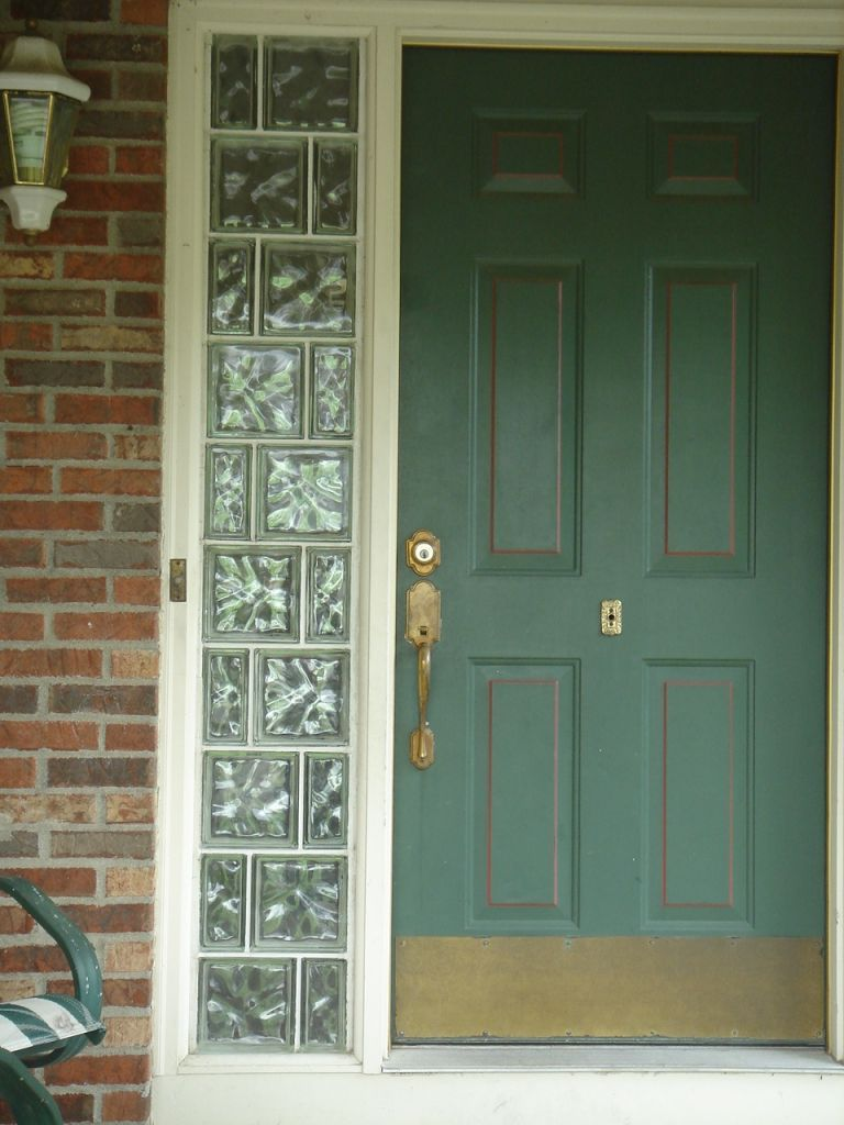 Entry Door Sidelights With Glass Block Can Add Security Privacy Style Reduce Costs