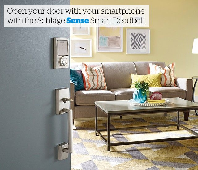 The Schlage Sense is compatible with your iPhone or Android. Open ...