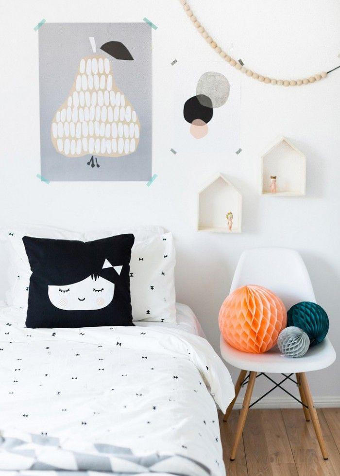 Inspirations  une chambre d\u0027enfant en noir et blanc Bebe baby