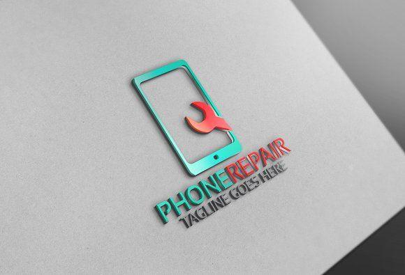 Phone Repair Logo Phone Repair Phone Template Phone Logo