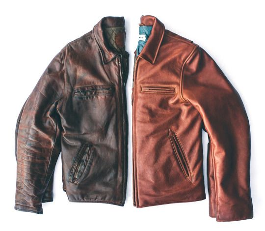 On your left: a jacket from 1973. On your right: the re-birth, commissioned by the original owner's son, and produced in the very same factory.