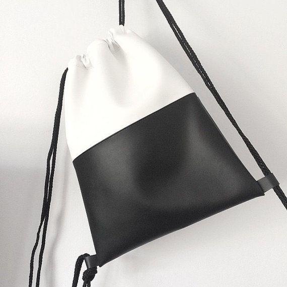 Black Drawstring Bag from the hungarian kabelka brand. minimalist ...